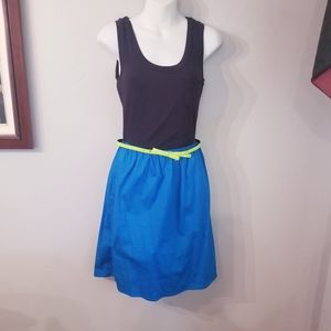 Nwt maurices 80's inspired blue&black dress